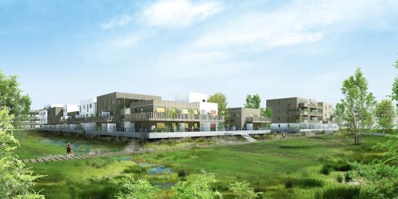 Perspective projet Bouygue Immobilier Jourda Architectures - Ilot G